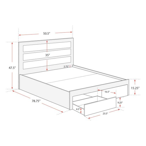 Tg Twin Bed Frame, How Large Is A Twin Bed Frame